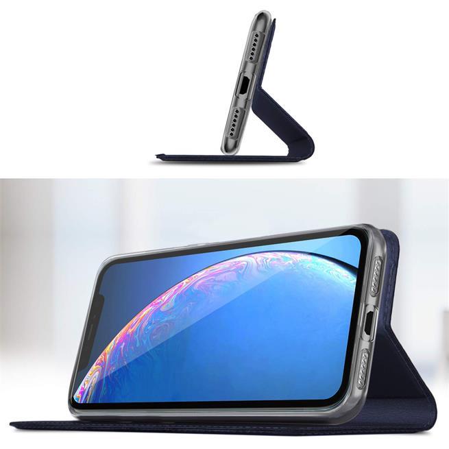 Slim Wallet Case für Apple iPhone XR Magnet Hülle mit Standfunktion