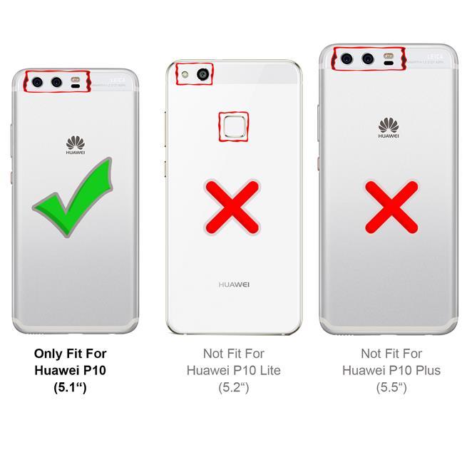 Slim Flip Cover für Huawei P10 Hülle Tasche Magnet in der Klapphülle in Rosegold