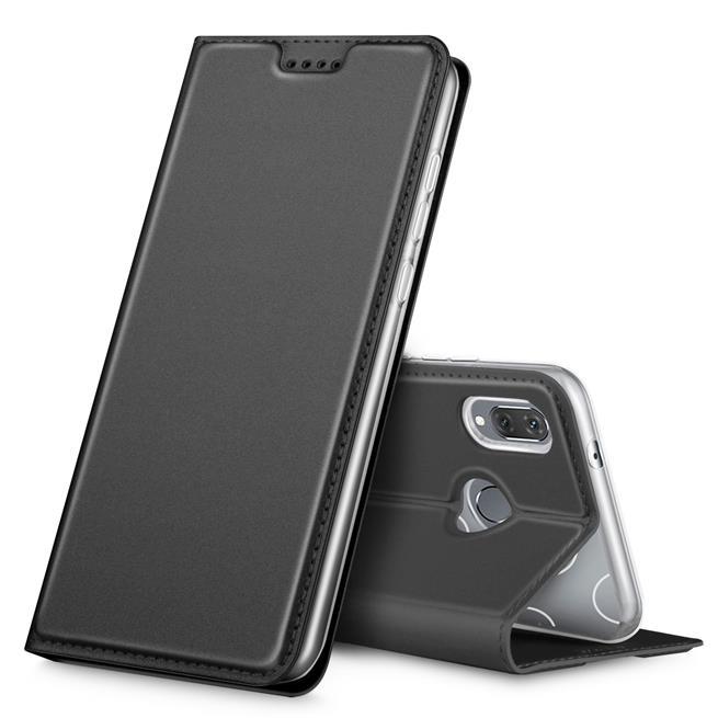 Slim Flip Cover für Huawei P20 Lite Hülle Tasche Magnet in der Klapphülle in Schwarz