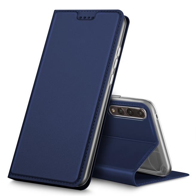 Slim Flip Cover für Huawei P20 Pro Hülle Tasche Magnet in der Klapphülle in Blau