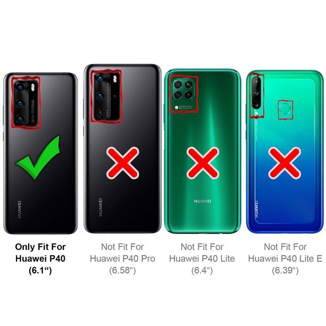 Magnet Case für Huawei P40 Hülle Schutzhülle Handy Cover Slim Klapphülle