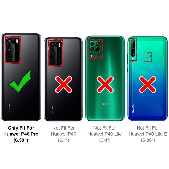 Magnet Case für Huawei P40 Pro Hülle Schutzhülle Handy Cover Slim Klapphülle