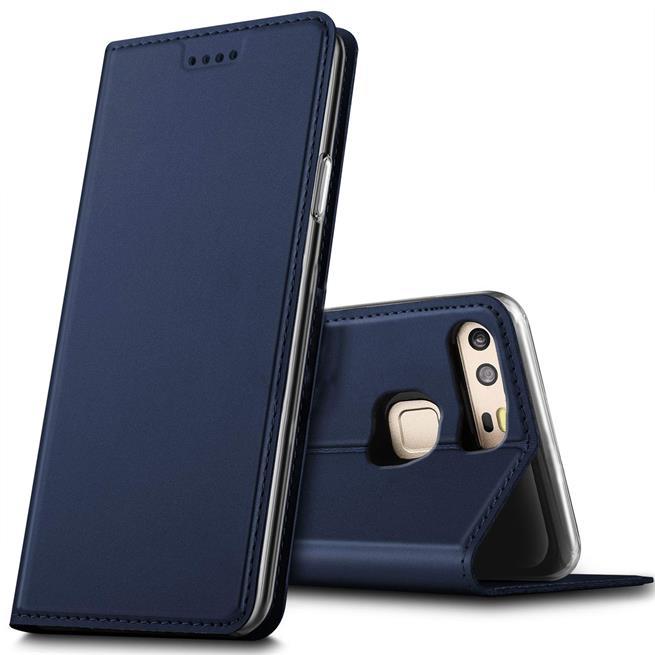 Slim Flip Cover für Huawei P9 Hülle Tasche Magnet in der Klapphülle in Blau
