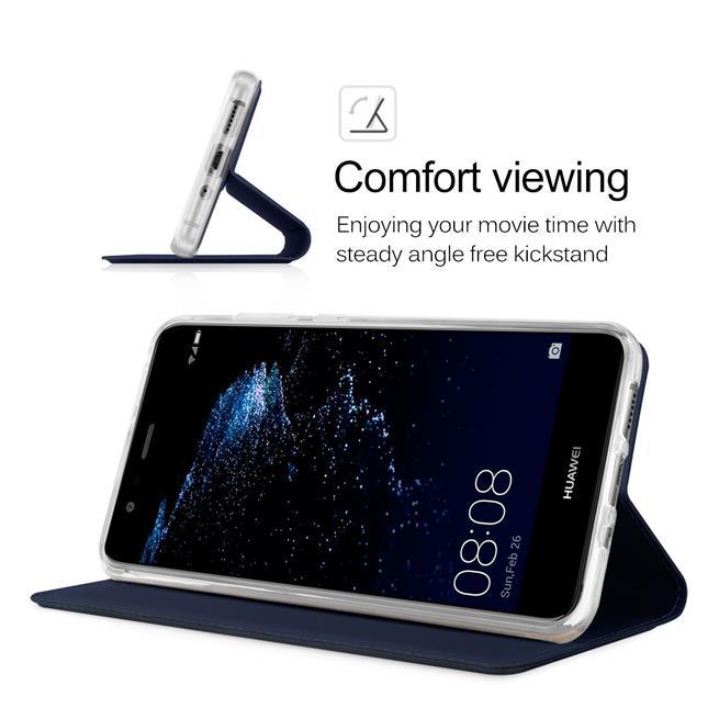 Slim Flip Cover für Huawei P9 Lite Hülle Tasche Magnet in der Klapphülle in Blau