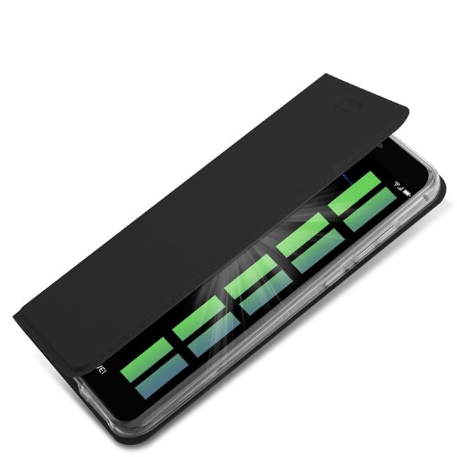 Slim Flip Cover für Huawei P9 Lite Hülle Tasche Magnet in der Klapphülle in Schwarz