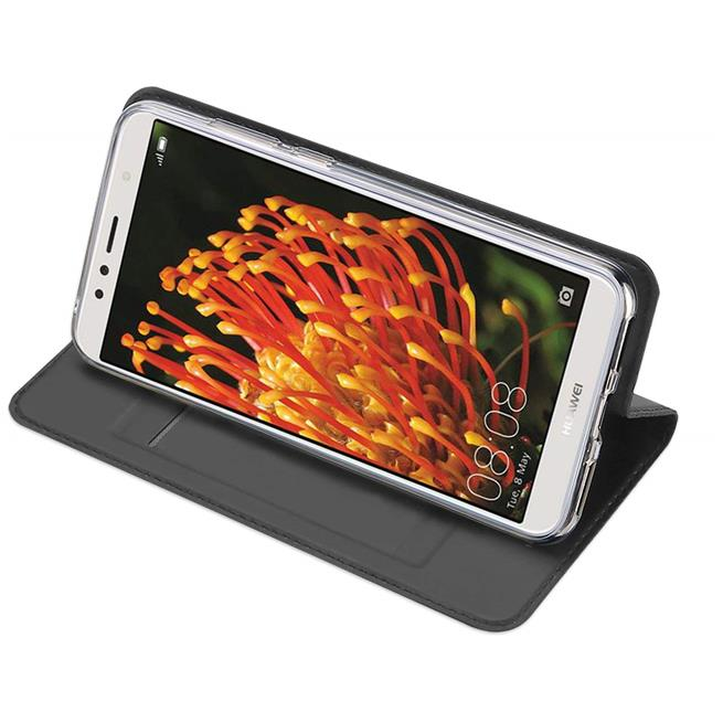 Slim Wallet Case für Huawei Y7 2018 Magnet Hülle mit Standfunktion