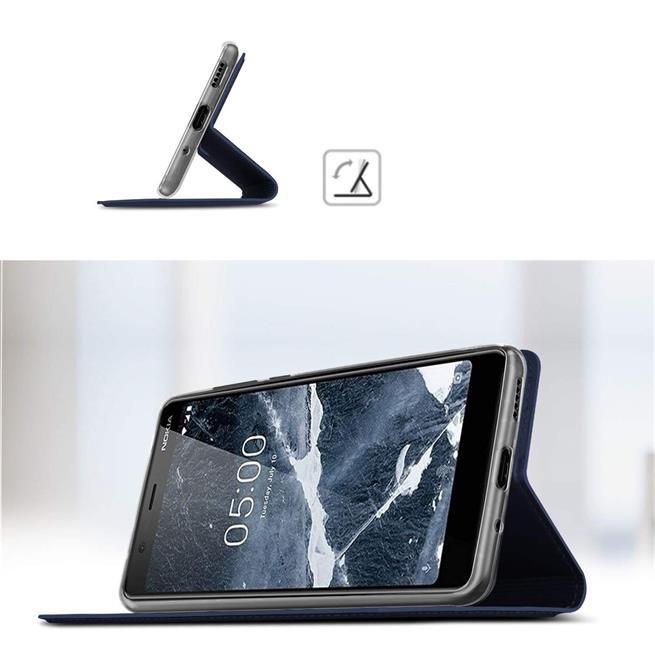 Slim Wallet Case für Nokia 5.1 Magnet Schutz Hülle mit Standfunktion