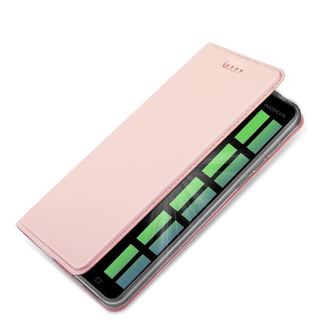 Slim Flip Cover für Nokia 6 Hülle Tasche Magnet in der Klapphülle in Rosegold