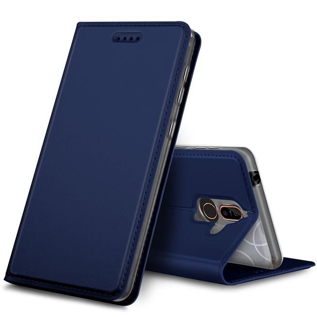 Slim Flip Cover für Nokia 7 Plus Hülle Tasche Magnet in der Klapphülle in Blau