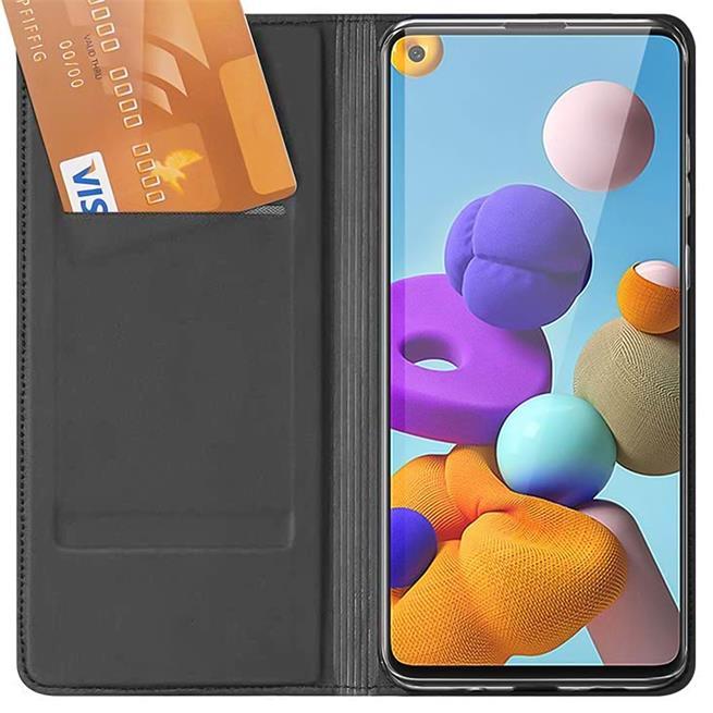 Magnet Case für Samsung Galaxy A21s Hülle Schutzhülle Handy Cover Slim Klapphülle