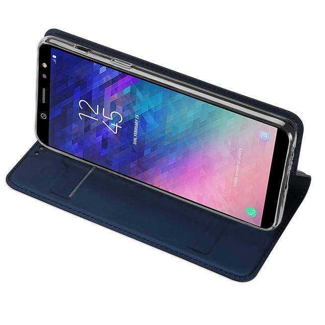 Slim Wallet Case für Samsung Galaxy A6 Plus aufstellbare Magnet Hülle