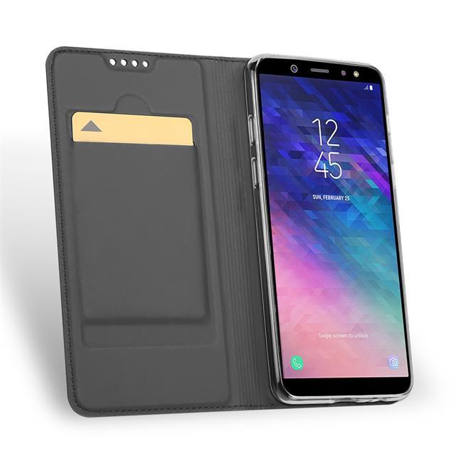 Slim Wallet Case für Samsung Galaxy A6 Magnet Hülle mit Standfunktion