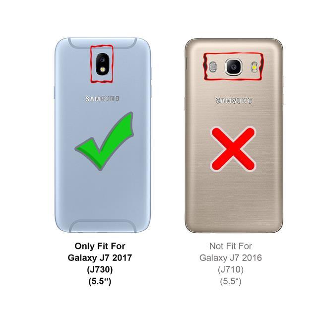 Slim Wallet Case für Samsung Galaxy J7 2017 aufstellbare Magnet Hülle