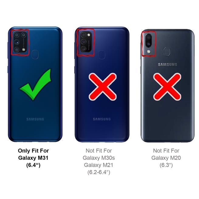 Magnet Case für Samsung Galaxy M31 Hülle Schutzhülle Handy Cover Slim Klapphülle