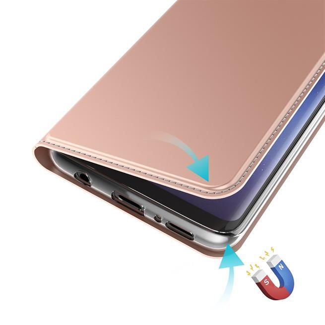Slim Flip Cover für Samsung Galaxy Note 8 Hülle Tasche Magnet in der Klapphülle in Rosegold