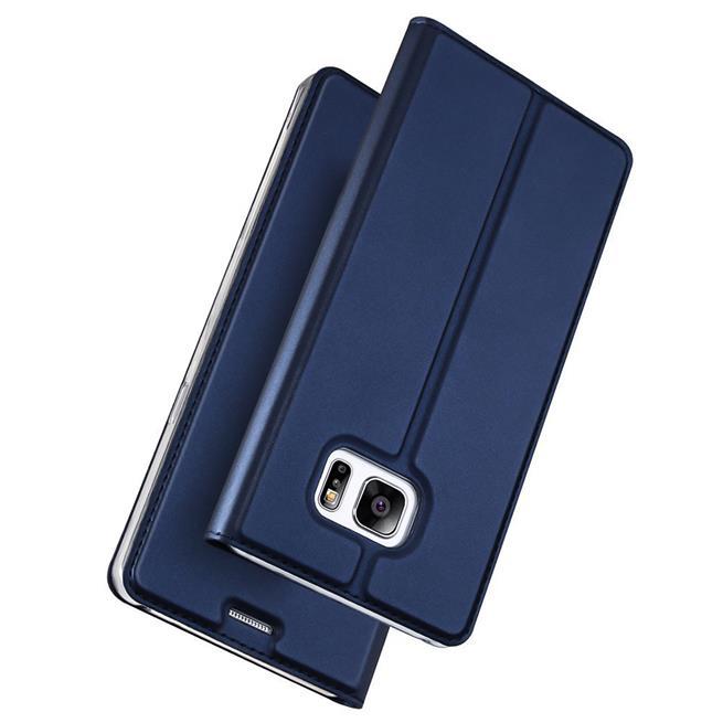 Slim Flip Cover für Samsung Galaxy S7 Edge Hülle Tasche Magnet in der Klapphülle in Blau