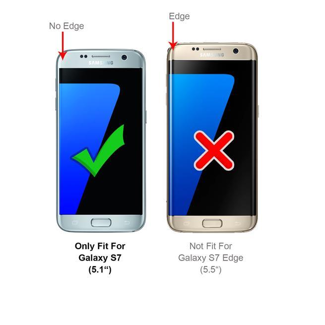 Slim Wallet Case für Samsung Galaxy S7 Magnet Hülle mit Standfunktion