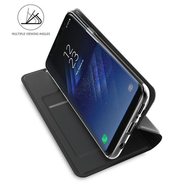 Slim Wallet Case für Samsung Galaxy S8 Magnet Hülle mit Standfunktion