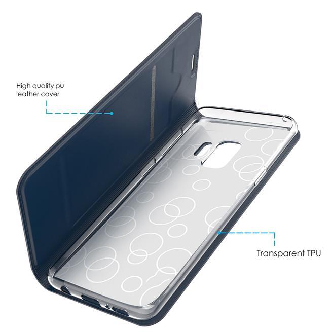 Slim Wallet Case für Samsung Galaxy S9 Magnet Hülle mit Standfunktion