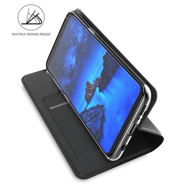 Slim Flip Cover für Samsung Galaxy S9 Hülle Tasche Magnet in der Klapphülle in Schwarz