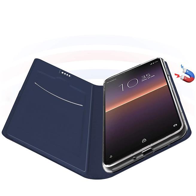 Magnet Case für Sony Xperia 10 II Hülle Schutzhülle Handy Cover Slim Klapphülle