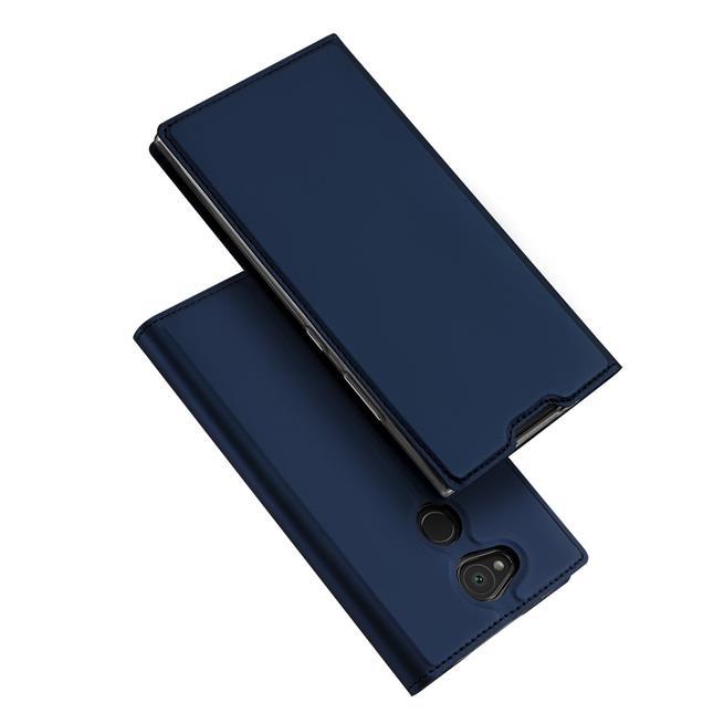 Slim Flip Cover für Sony Xperia L2 Hülle Tasche Magnet in der Klapphülle in Blau