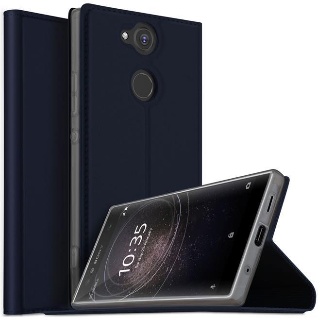 Slim Flip Cover für Sony Xperia XA2 Hülle Tasche Magnet in der Klapphülle in Blau
