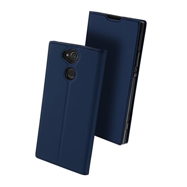 Slim Flip Cover für Sony Xperia XA2 Ultra Hülle Tasche Magnet in der Klapphülle in Blau