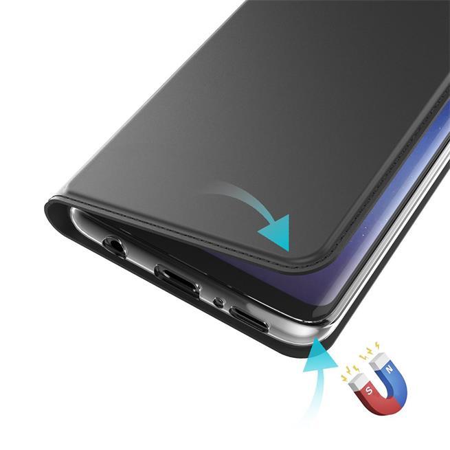 Slim Flip Cover für Sony Xperia XA2 Ultra Hülle Tasche Magnet in der Klapphülle in Schwarz
