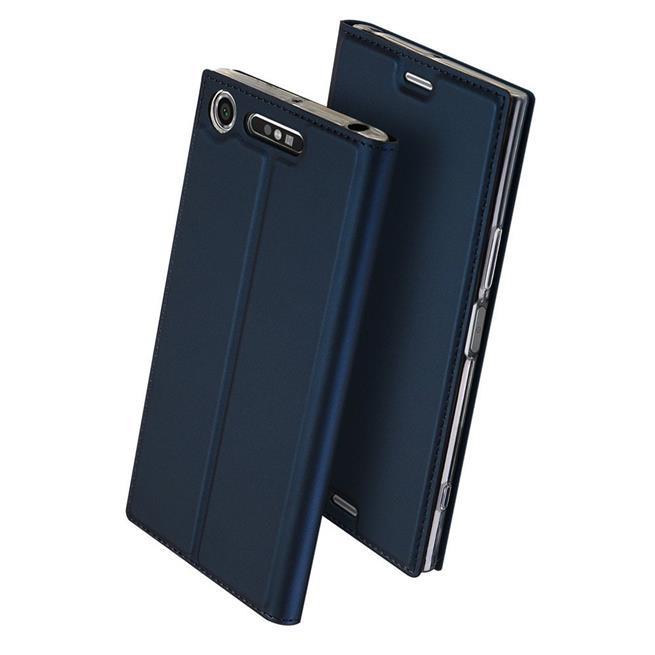 Slim Flip Cover für Sony Xperia XZ1 Hülle Tasche Magnet in der Klapphülle in Blau
