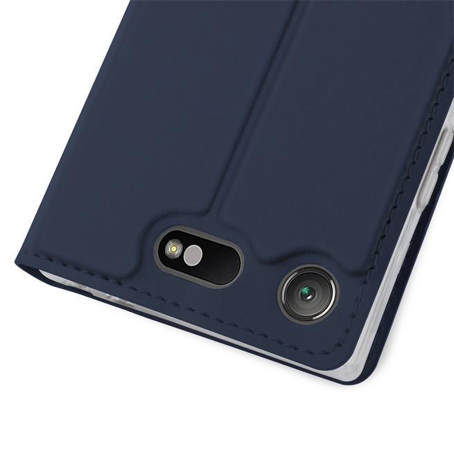 Slim Flip Cover für Sony Xperia XZ1 Compact Hülle Tasche Magnet in der Klapphülle in Blau