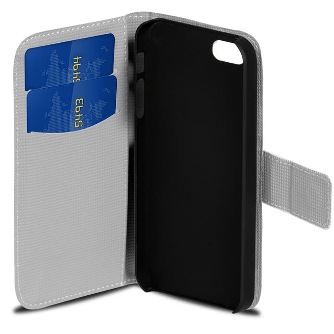 Motiv Klapphülle für Apple iPhone 6 Plus / 6S Plus buntes Wallet Case