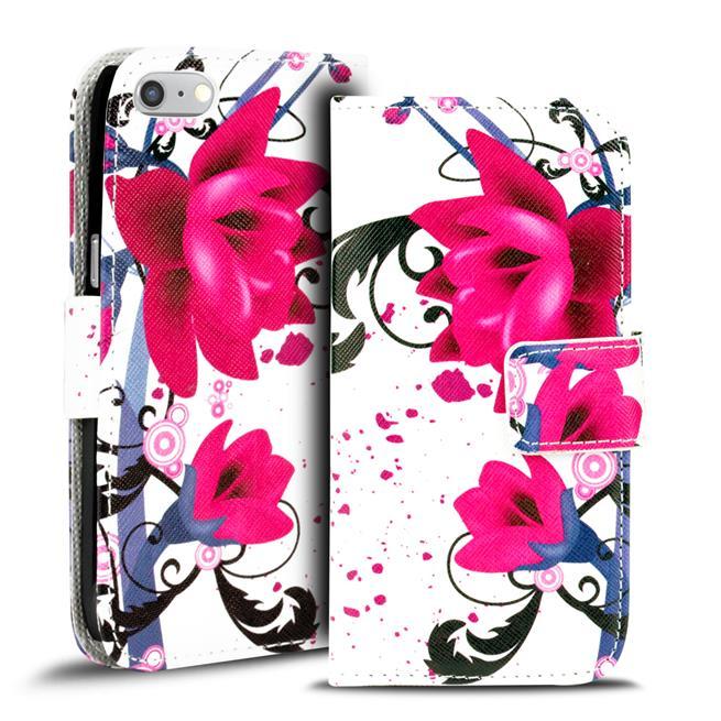 Motiv Klapphülle für Apple iPhone 7 / 8 buntes Wallet Schutzhülle