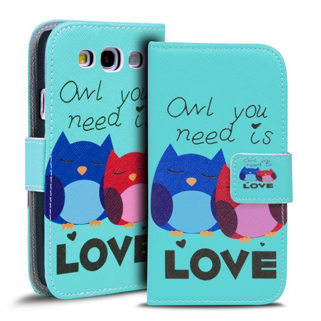 Motiv Klapphülle für Samsung Galaxy S3 / S3 Neo buntes Wallet Case