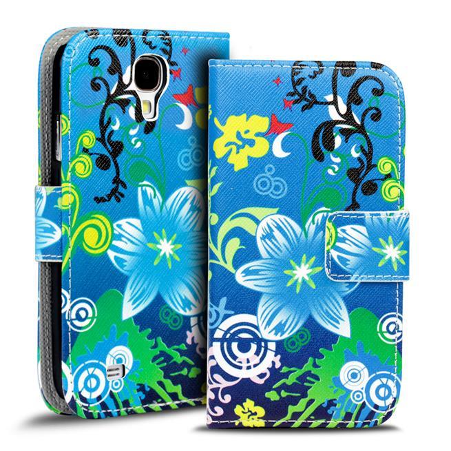 Motiv Klapphülle für Samsung Galaxy S4 buntes Wallet Schutzhülle