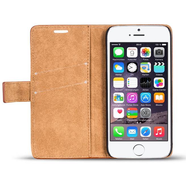 Retro Klapptasche für Apple iPhone 6 / 6S aufstellbare Schutzhülle