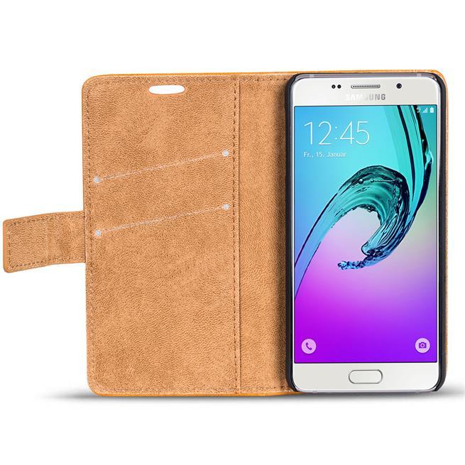 Retro Klapptasche für Samsung Galaxy A3 2016 aufstellbares Book Wallet