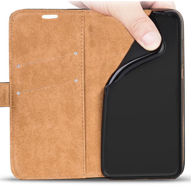 Retro Klapptasche für Samsung Galaxy A6 aufstellbares Book Wallet