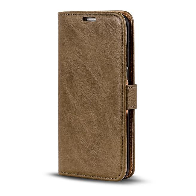 Retro Klapptasche für Samsung Galaxy S5 Mini aufstellbares Book Wallet