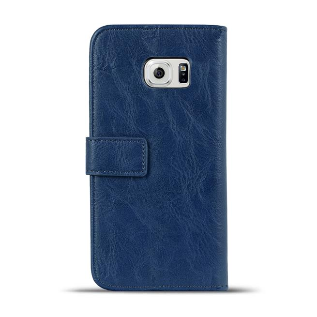 Retro Klapptasche für Samsung Galaxy S6 Edge aufstellbares Book Wallet