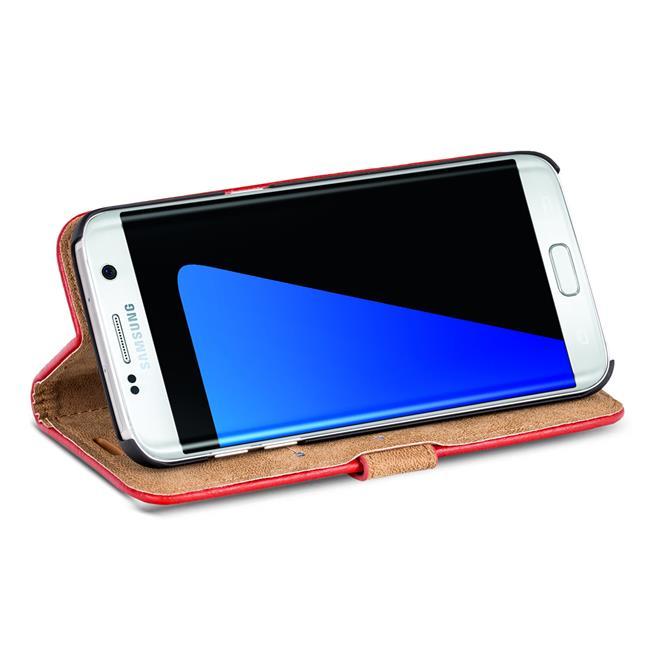 Retro Klapptasche für Samsung Galaxy S7 Edge aufstellbares Book Wallet