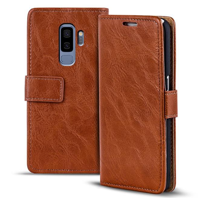Retro Klapptasche für Samsung Galaxy S9 Plus aufstellbares Book Wallet