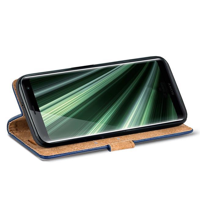 Retro Klapptasche für Sony Xperia XZ3 Schutzhülle mit Kartenfächern