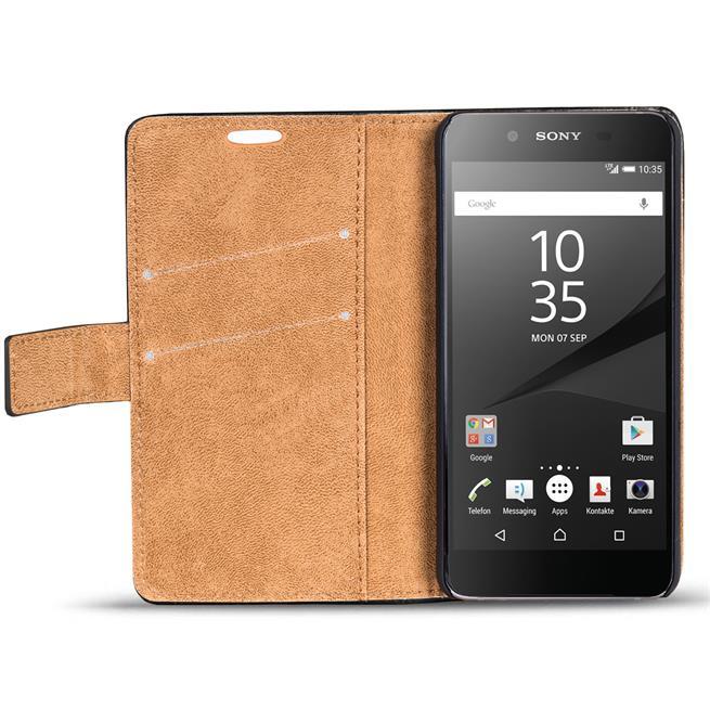 Retro Klapptasche für Sony Xperia Z5 Compact aufstellbares Wallet