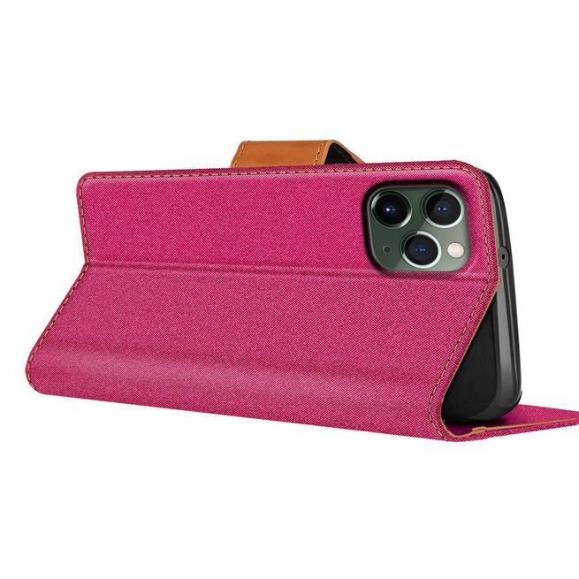 Handy Tasche für Apple iPhone 11 Pro Max Hülle Wallet Jeans Case Schutzhülle