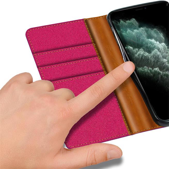 Handy Tasche für Apple iPhone 11 Pro Hülle Wallet Jeans Case Schutzhülle