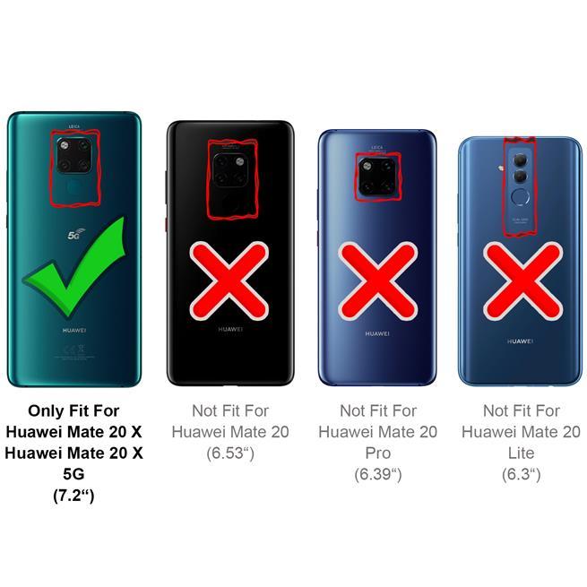 Handy Tasche für Huawei Mate 20 X Hülle Wallet Jeans Case Schutzhülle