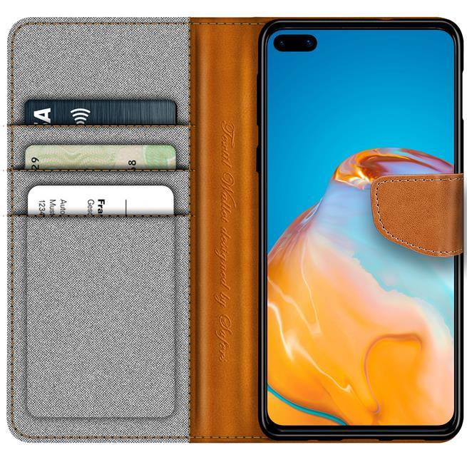 Handy Tasche für Huawei P40 Hülle Wallet Jeans Case Schutzhülle