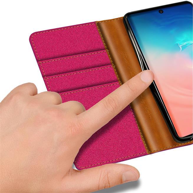 Handy Tasche für Samsung Galaxy S10 Lite Hülle Wallet Jeans Case Schutzhülle