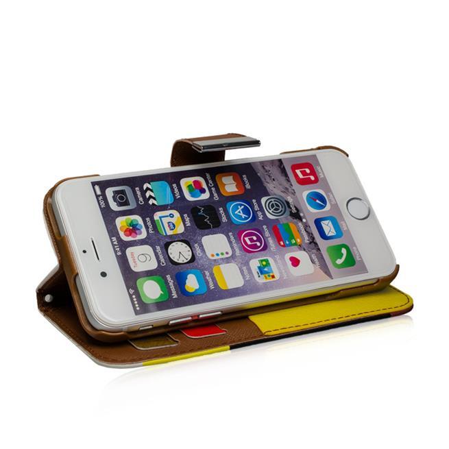 Dreifarbige Hülle für Apple iPhone 6 Plus / 6S Plus buntes Schutzcase